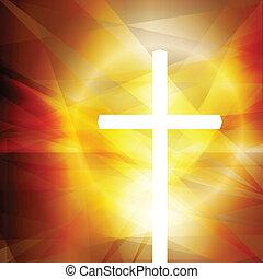 crucifixos, vetorial, abstratos, fundo, conceito