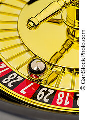 roulette gambling in the casino the ball rolls