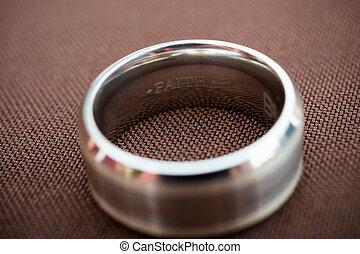 Faith Wedding Ring Inscription - The inscription on this...