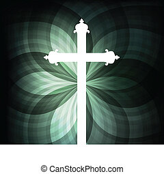 Cross vector abstract background concept for poster
