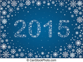 2015 title from snowflakes - Title 2015 from frosty...