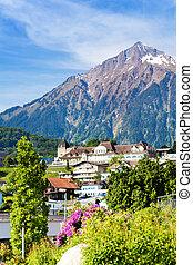 Alps and Spiez village