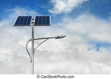 solar powered street light pole