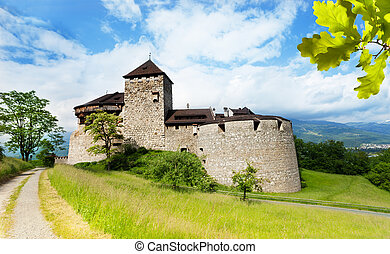 Vaduz prince castle in Liechtenstein kingdom, tiny country...