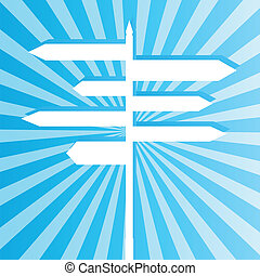 Crossroad sign post vector background for poster