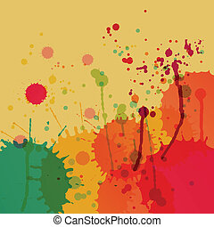 Colorful splashes vector background for poster