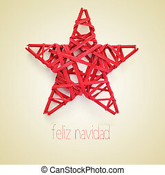 feliz navidad, merry christmas in spanish - a red christmas...