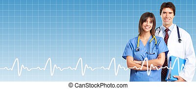 Professional doctor over healthcare background. Health care...