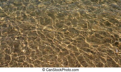 Water background - Gold color water reflection