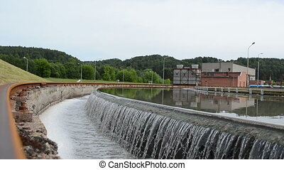 water treatment basin - sewage water treatment plant basin...