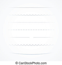 Vector Dividers, Isolated On White Background