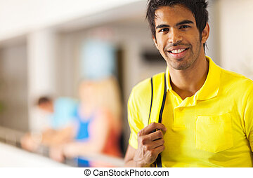 male indian college student portrait - handsome male indian...