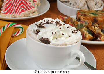 Hot chocolate and Christmas desserts