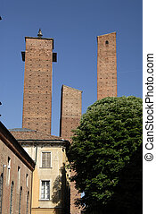 view of Pavia a town in italy Lombardia