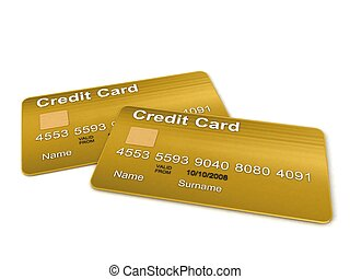 two golden credit card