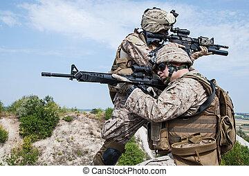 militar, Operação