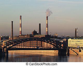 Industrial Saint Petersburg - View of industrial part of...