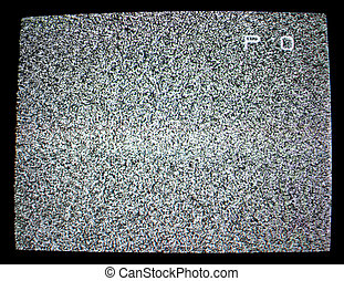 Noise - Background noise of flickering detuned TV screen