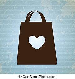 shopping bag design over blue background vector illustration...