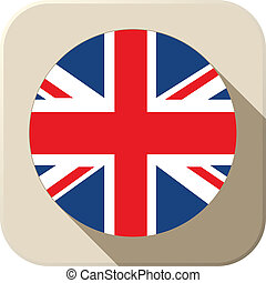 UK Flag Button Icon Modern