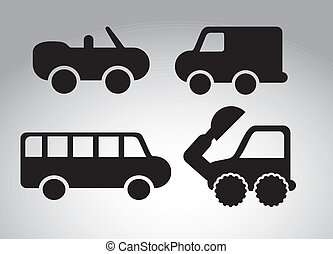 cars design over gray  background vector illustration
