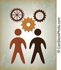 business planner over vintage background vector illustration