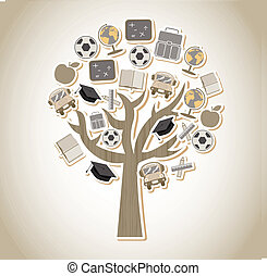tree design over gray background vector illustration