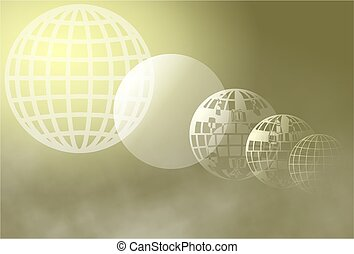 grid globe - An abstract morphing globe background design