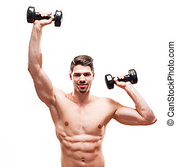 Fit and cool. - Portrait of a muscular very fit handsome...