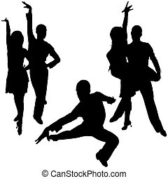 Latino Dance Silhouettes 08 - detailed illustrations