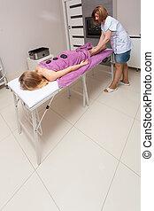 Beauty spa. Hot stone massage.