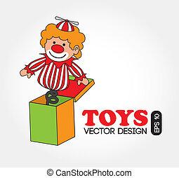 kids toys over white background vector illustration