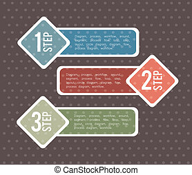 infographics design over dotted background vector...