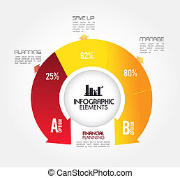 infographics design over white background vector...