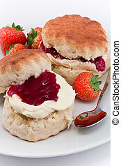 Devonshire Cream Tea - Traditional Afternoon Tea of...