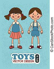 kids toys over blue background vector illustration