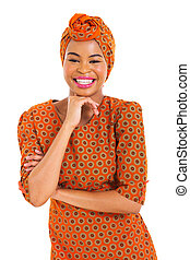 smiling african woman