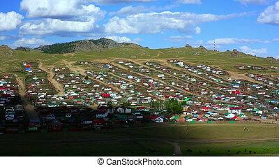Tsetserleg City, Mongolia, timelapse