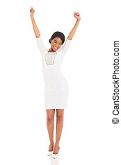excited african American woman - excited african american...