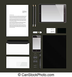 Corporate identity templates, Vector Eps10 illustration.