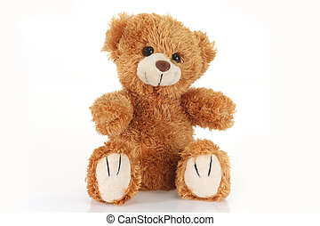 Teddy bear - Cute teddy bear on bright background