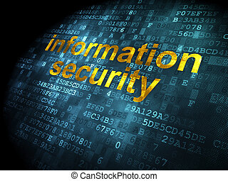 Safety concept: Information Security on digital background -...
