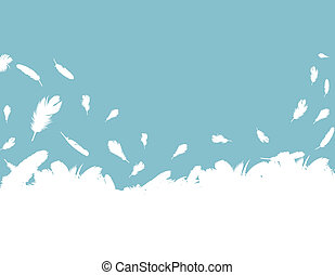 Feather vector background with copy space for text