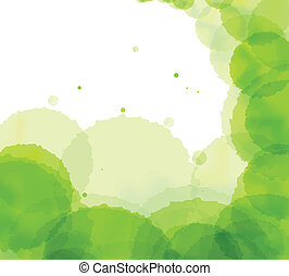 Artistic green splash vector background