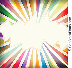 Colorful template with retro sun burst background vector