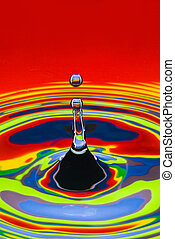 multicolored water droplet black and white outlined -...