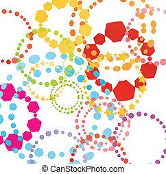 Colorful retro vector background