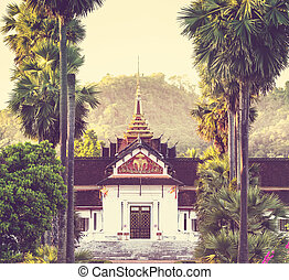 Temple in Laos - Buddhist temple in Laos