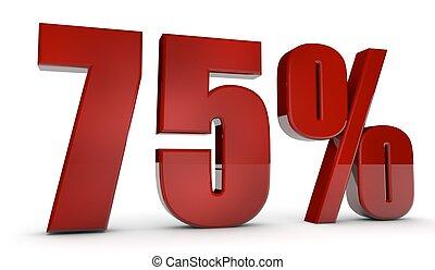 percent,75