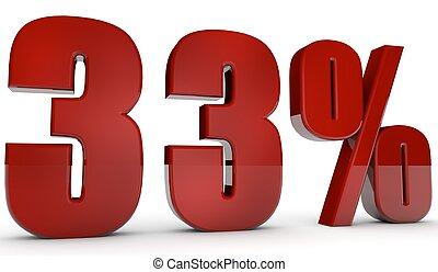 percent,33